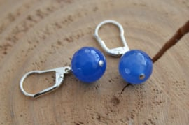 Oorbellen Sterling Zilver 925 met gemstone 'blauw'