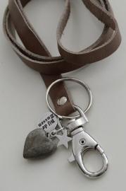 Keycord met hanger hart