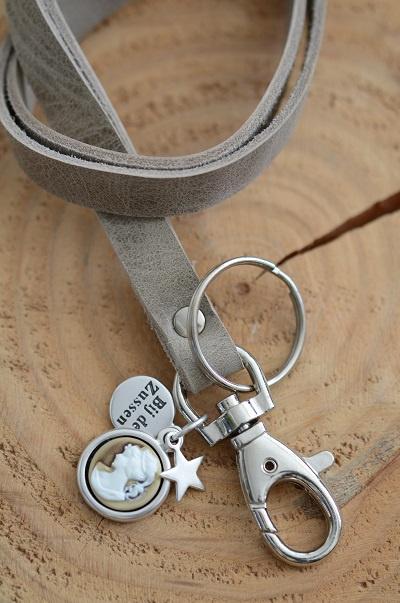 Keycord met hanger camee lady