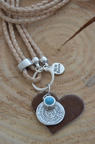Ketting leer `naturel`