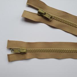 bruine deelbare rits 65 cm