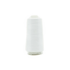Polyester lock-/naaigaren wit