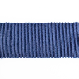 Ribslint grosgrain blauw