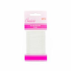Smal elastiek wit