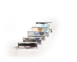 Trio box oogschaduw  zilver met 3 pans