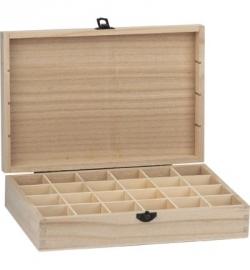houten kistje met 24 vakjes
