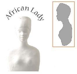 afrikaanse dame buste (volledig)