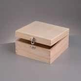 kistje hout vierkant (E703)