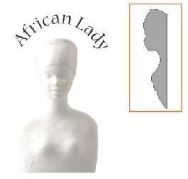 afrikaanse dame buste ( half)