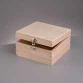 Kistje hout vierkant (E702)