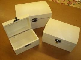 houten kistjes - set 3-delig