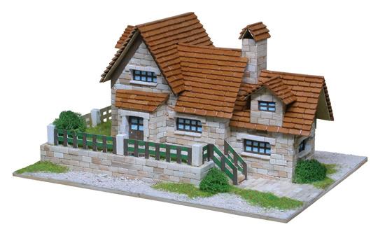 chalet Aedes Ars modelbouw met steentjes
