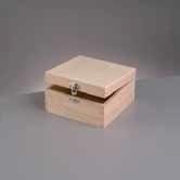 kistje hout vierkant (E701)
