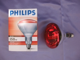 Warmtelamp 150 watt rood