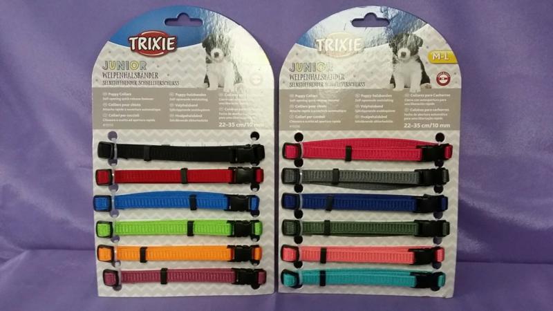 Puppy ID bandjes verstelbaar 12 stuks  M / L