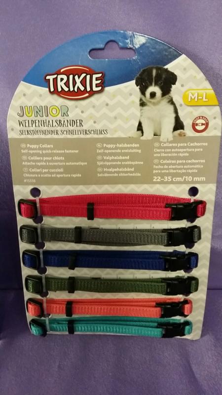 Puppy ID bandjes verstelbaar 6 stuks S / M
