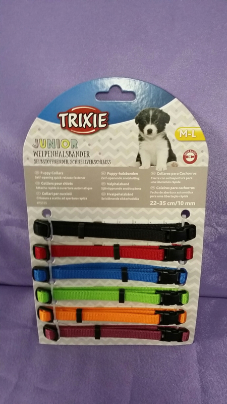 Puppy ID bandjes verstelbaar 6 stuks M / L