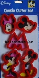 Disney Mickey & Minnie Mouse Cookie cutter set/5