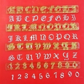 FMM Alphabet & Numbers tappits The Old English