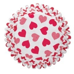 Wilton Baking cups Hearts pk/75
