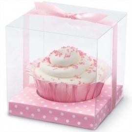 Wilton Pink Clear Favor Box Kit pk/20