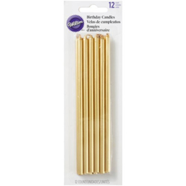 Wilton Birthday Candles Tall Gold pk/12