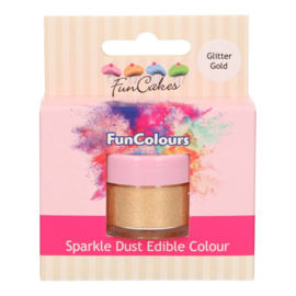 FunCakes Edible FunColours Sparkle Dust - Glitter Gold