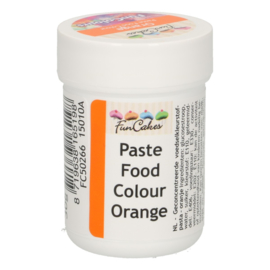 FunCakes FunColours Paste Food Colour - Orange 30g