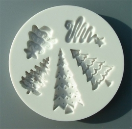 Alphabet moulds Christmas trees