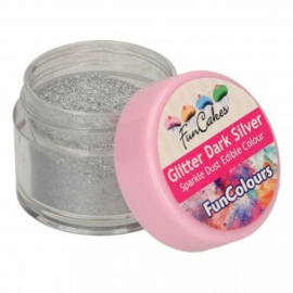 FunCakes Edible FunColours Sparkle Dust - Glitter DarkSilver