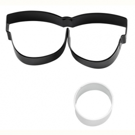 Wilton Cookie Cutter Eyeglasses and Eyeball Set/2