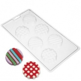 Wilton Cookie Candy Mold Dot Stripes
