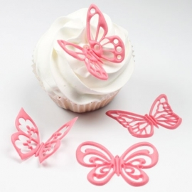 JEM Fantasy Butterflies Cupcake Tops Set/4