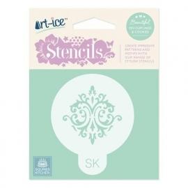 SK Art-ice Stencil Round -Baroque-