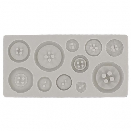 Alphabet moulds Buttons Plain