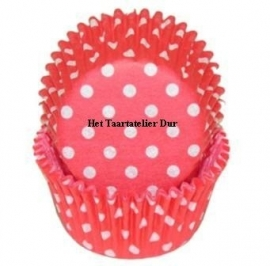 PME Baking cups Red Polka Dots pk/60