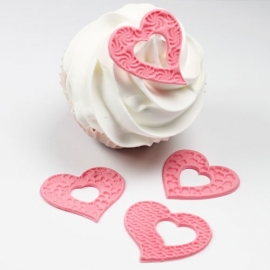 JEM Fantasy Hearts Cupcake Tops Set/4