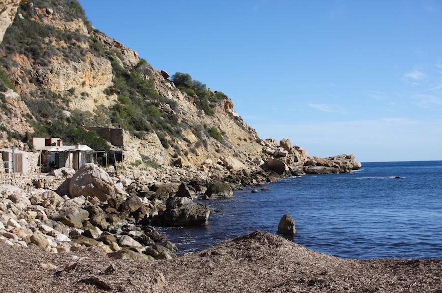 strand van Cala Llebeig in Moraira Benitatchell