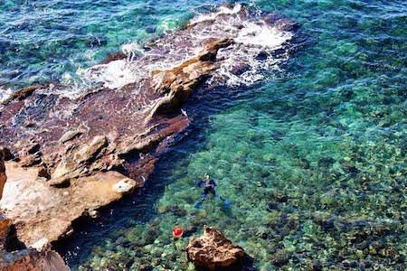 strand van Cala Cap Blanc Moraira Benissa