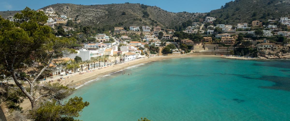 strand van El Portet
