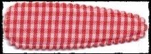 (gr) Haarkniphoesjes incl knipjes - rood geruit - 5.5 cm.