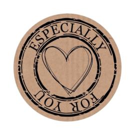 Craft etiketten 'Espacially for you' - 10 stuks