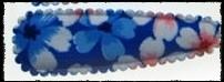 (gr) Haarkniphoesjes inclusief knipjes - blauw gebloemd