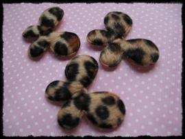 Vlinders, dierprint bontje - 4 stuks - 35mm.