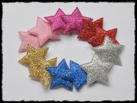 vdp - glitter sterren - 12 stuks - 35mm.