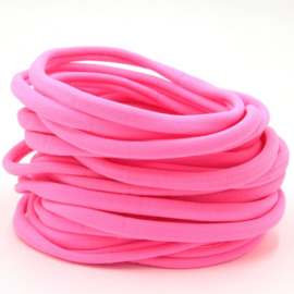 Nylon haarbandje, neon roze