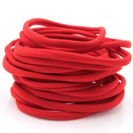 Nylon haarbandje, rood