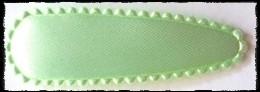 (gr) Haarkniphoesjes incl knipjes - mintgroen satijn - 2 stuks