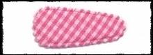(kl) Haarkniphoesjes incl knipjes - fuchsia ruit - 2 stuks