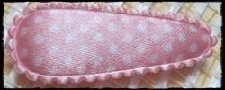 (md) Haarkniphoesjes incl knipjes - l.roze polkadot, satijn - 2 stuks